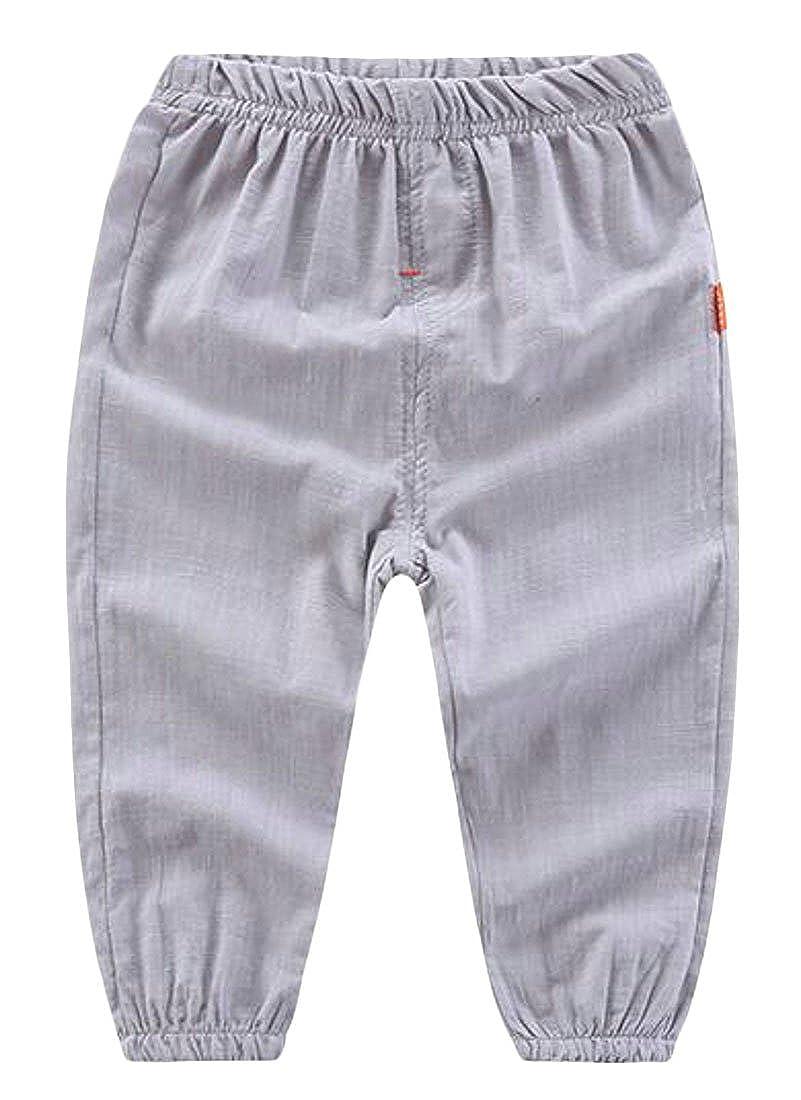 goldenharvest GH Boys Toddler Cotton Pure Color Elastic Rise Easy Fit Jogger Pants Pants