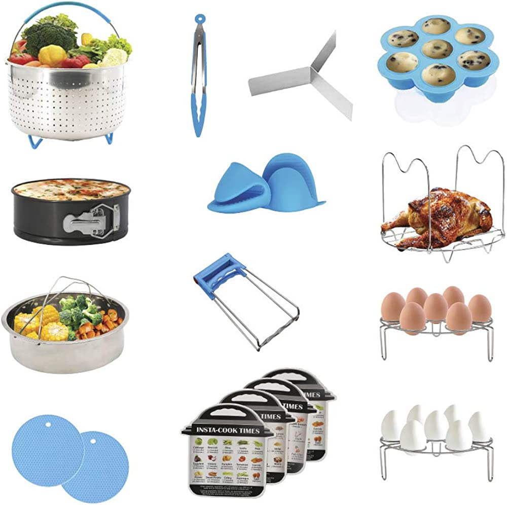 Home Living Plus 18 Piece Instant Pot/Pressure Cooker Accessories Set by KHM Products Dishwasher Safe, BPA Free, fits 5/6 /8 Quart pots- Quality Silicone and Stainless Steel- Durable nonstick Items