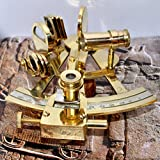 4'' Collectible German Working Instrument Marine Solid Brass Sextant By Nauticalmart