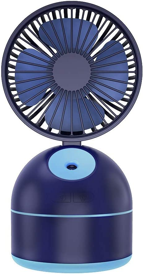 QIAOXINGXING 2019 New Beauty Spray Fan Creative Desktop Hydrating Cooling Fan Large Capacity Hydrating Small Fan Color : White