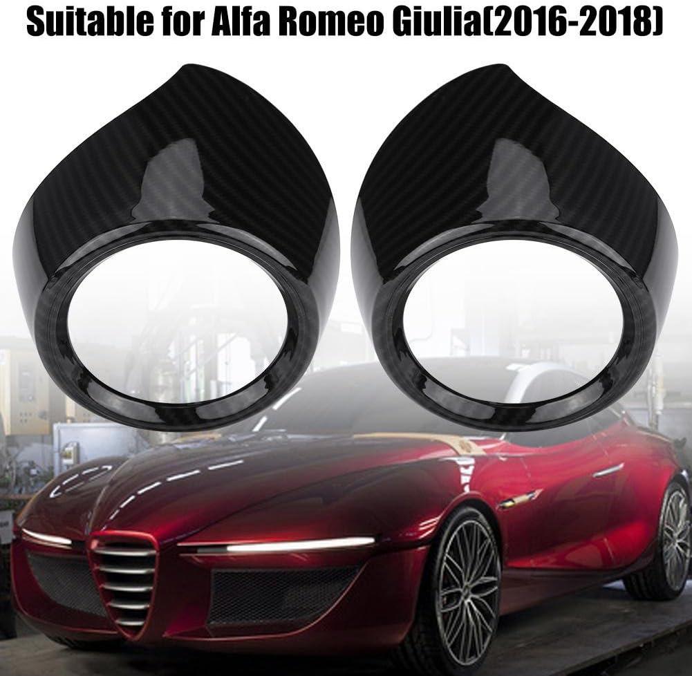 Air Conditioner Cover Trim Cuque Car Interior Front Row Side Air Conditioner Outlet Trim Cover Frame Air Vent Cover Trim for Alfa Romeo Giulia 2016 2017 2018 ABS
