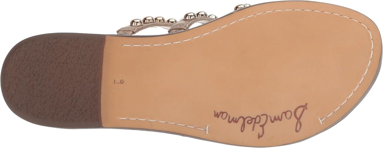 Sam Edelman Women's Glenn Slide Sandal B078WFDSW1 6.5 W US|Dark Molten Gold Tumbled Opal Metallic Leather