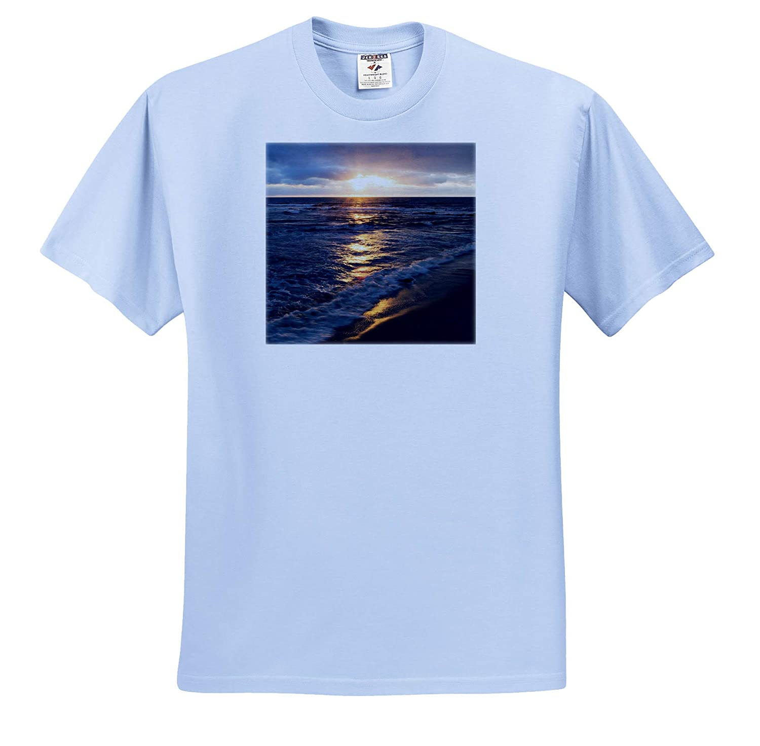ts/_314636 La Jolla Sunset Over Beach Adult T-Shirt XL USA 3dRose Danita Delimont California Seascapes