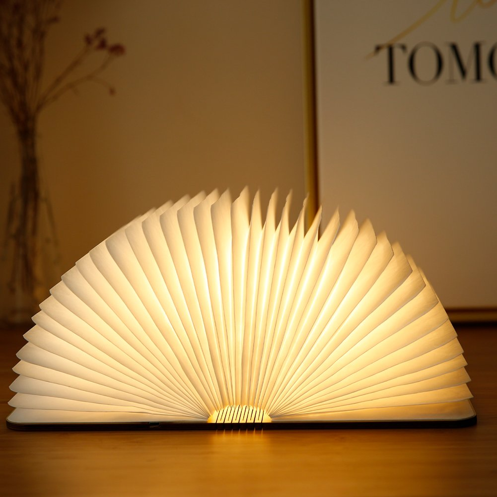Atilim wooden book lamp,USB rechargable book shaped night-light multicolored LED folding table bedside light for Decor,creative gift for Christmas and birthday (warm white) by Atilim (Image #6)