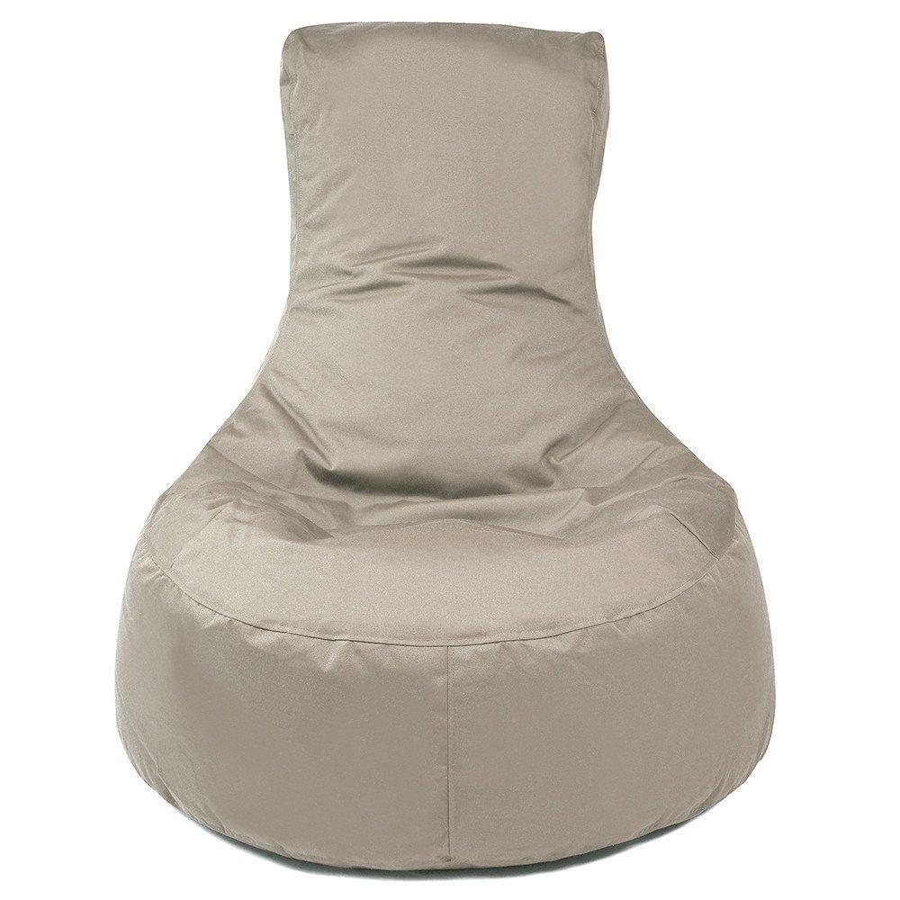 Puff/poltrona a sacco, per ambienti esterni, tessuto, Beige Outbag