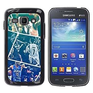 Baloncesto - Metal de aluminio y de plástico duro Caja del teléfono - Negro - Samsung Galaxy Ace 3