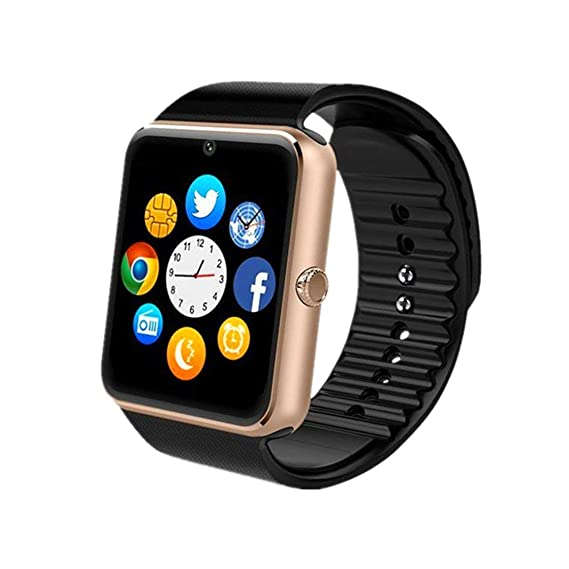 Smartwatch, Bluetooth Smart Watch Phone with SIM Card Slot\Camera\Pedometer\Touch Screen Wristwatch for Android Huawei Sony LG Google Pixel and iOS ...