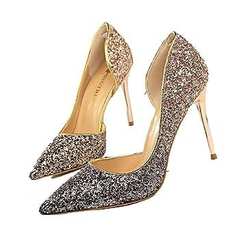 1e95d94c2513 Congshua Talons Hauts Sandales Blink Chaussures Bureau de Mariage de fête  Dames Princesse Reine (coloré
