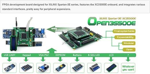 Amazon Com Pack 2 Open3s500e B Xilinx Xc3s500e Spartan 3e Fpga Development Board Lcd1602 Lcd12864 12 Kits Xygstudy Computers Accessories