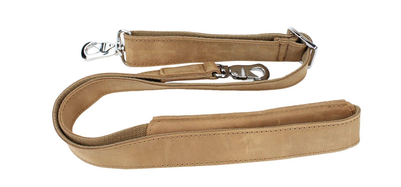 Vagabond Traveler 15'' Classic Fine Leather Messenger Bag Daily Bag L29. Distress by Vagabond Traveler (Image #5)