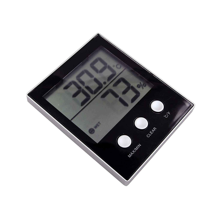 DATTON 905 White Digital Hygrometer Indoor Temperature Humidity Gauge Thermometer Hygrometer Monitor