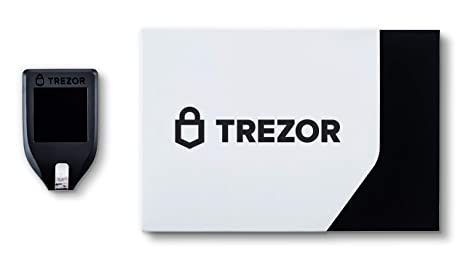 Trezor Model T Hardware Bitcoin Ethereum Litecoin Dash NEM ZCash Cryptocoin - Cartera, Color Negro
