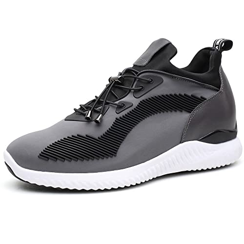 CHAMARIPA Elevator Sneakers Casual Lightweight Sports Shoes with Hidden Lifting Heel for Man 276 inches