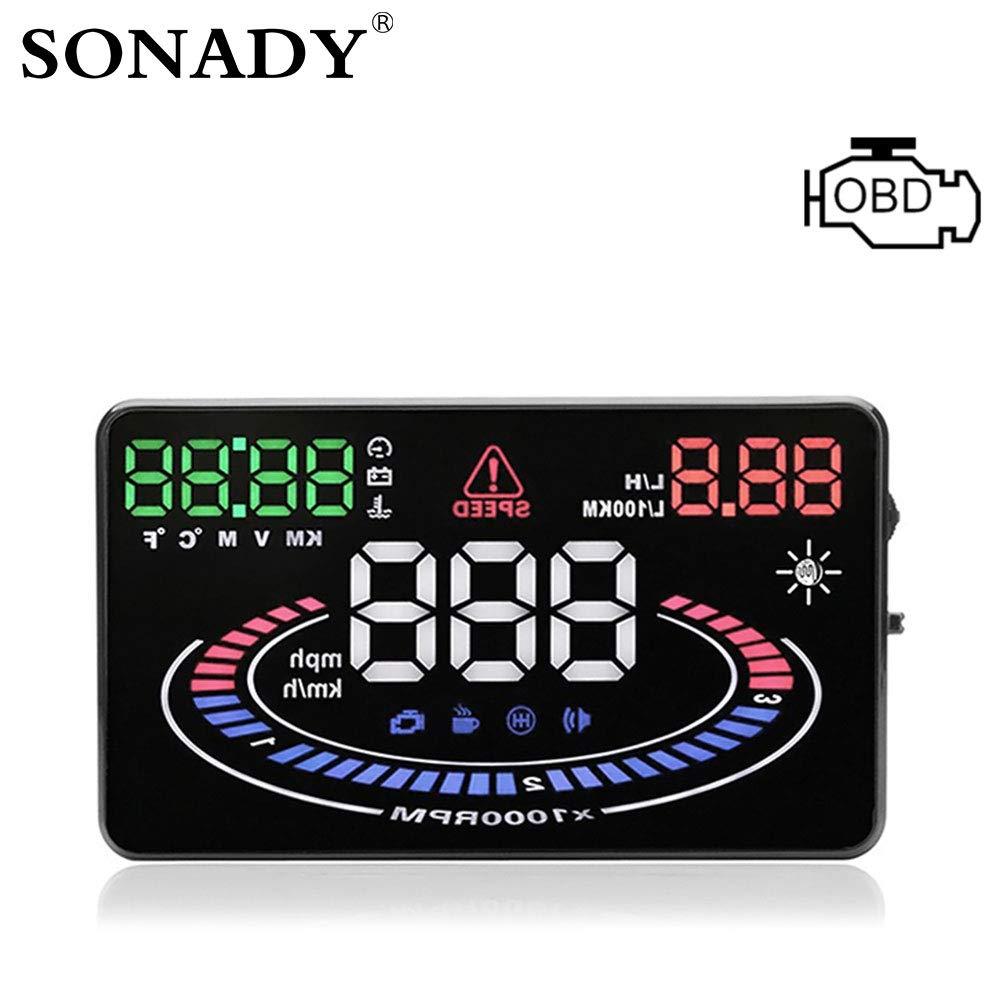 Amazon.com: SONADY HUD OBD2 Head Up Display - Car Velocidad ...