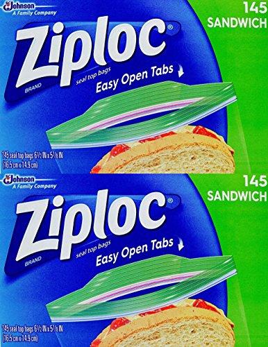 Ziploc Sandwich Bags, 6.5 x 5.875-Inch (16.5 cm x 14.9 cm) Pack of 290