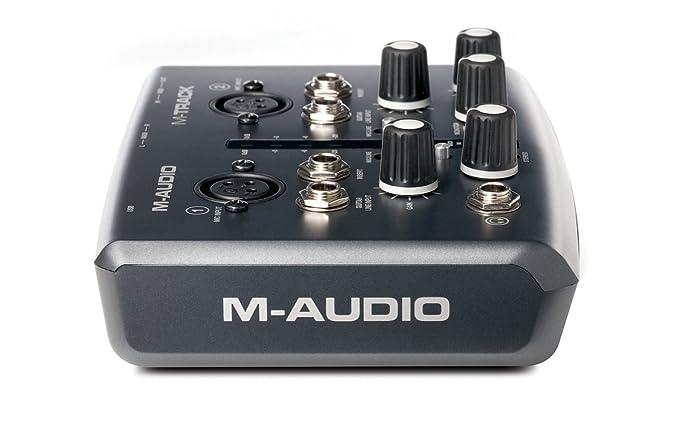 M-Audio M-Track - Tarjeta de sonido externa, negro