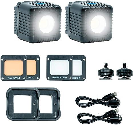 Lume Cube 2.0 - Pack de 2 Herramientas de iluminación (750 Lux, 5600ºK) Color Negro: Amazon.es: Electrónica
