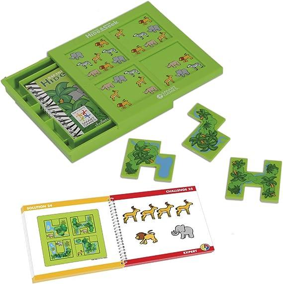 smart games - Escondite en la Selva, Juego de ingenio con retos progresivos (51311): Amazon.es: Juguetes y juegos