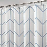 Cortina de baño decorativa con estampado de zigzag, tela de fácil cuidado, con ojales reforzados, para baño, regadera y…