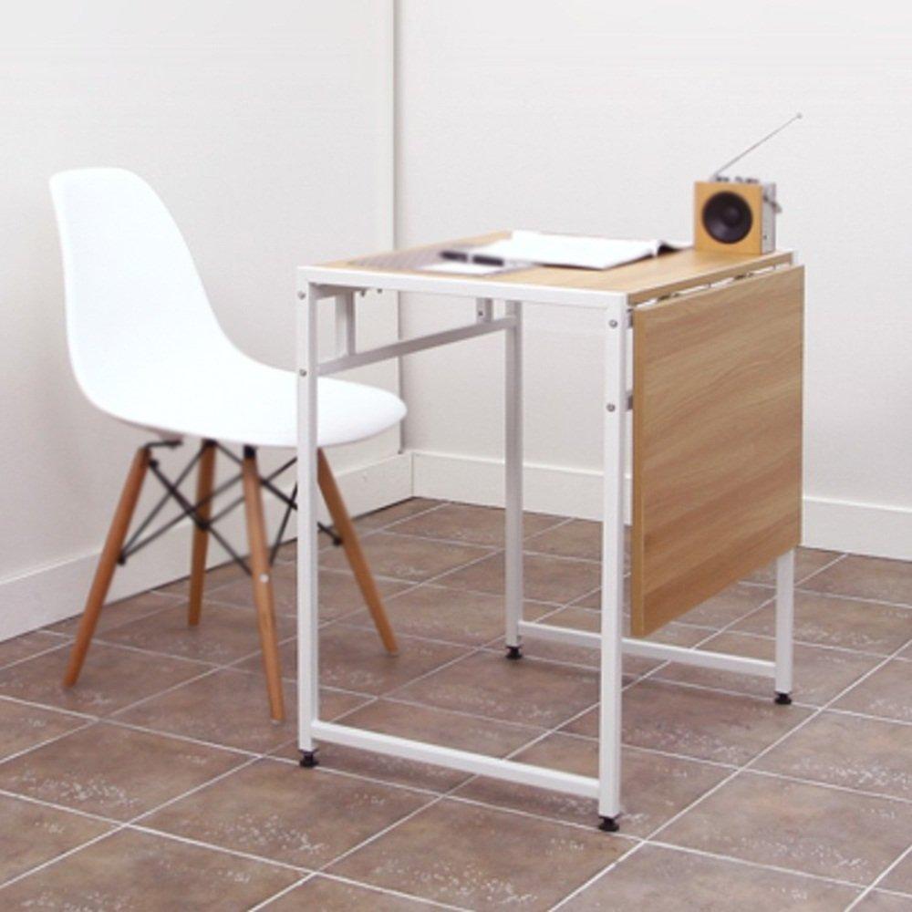 XIAOLIN ダブルダイニングテーブル折りたたみテーブル現代ミニマルリトラクタブルテーブルスチールウッド小さなアパートダイニングテーブル省スペースシンプルデスク小型ワークベンチミニ小型テーブルシンプルデスク小型ワークベンチ折りたたみテーブル (色 : 白) B07D55YKHL 白 白