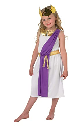 Rubies 640204 - Disfraz de romana para niña (tallas de 9 a 10 años), multicolor