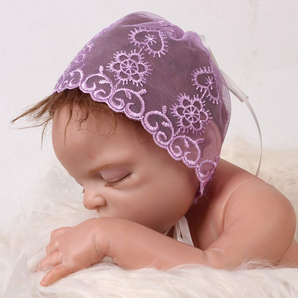 Toaimy Caps 2018 Lace Newborn Baby Girls Infant Toddler Photography Cap Photography Hats Headwear