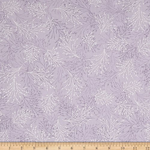Benartex 0567546 Kanvas Essence of Pearl Dragonfly Dream Dove Metallic Silver Fabric by The Yard, ()