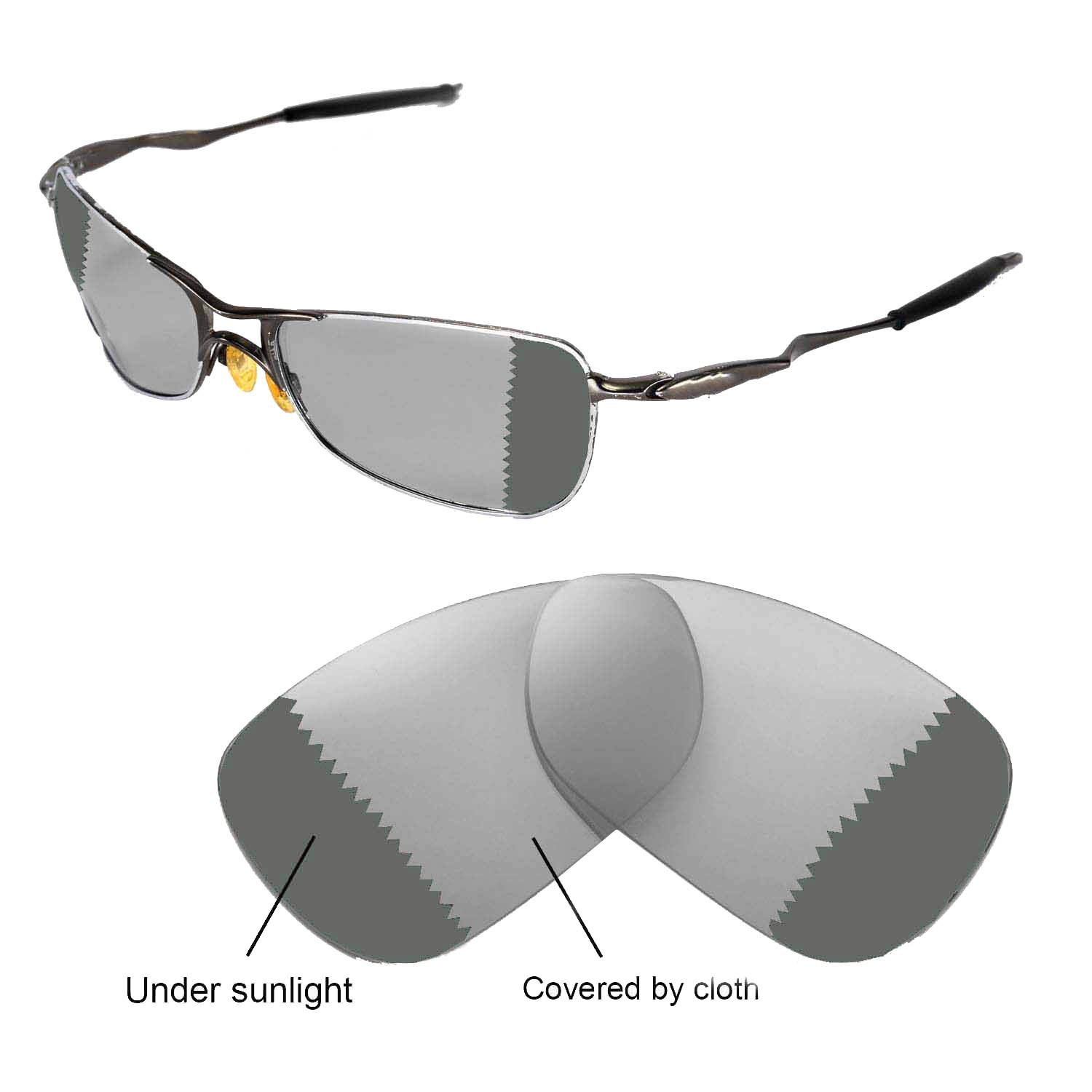 a7eaf6094fb5d Galleon - Walleva Polarized Transition photochromic Replacement Lenses For  Oakley Crosshair 1.0 (2005-2006 Version) Sunglasses
