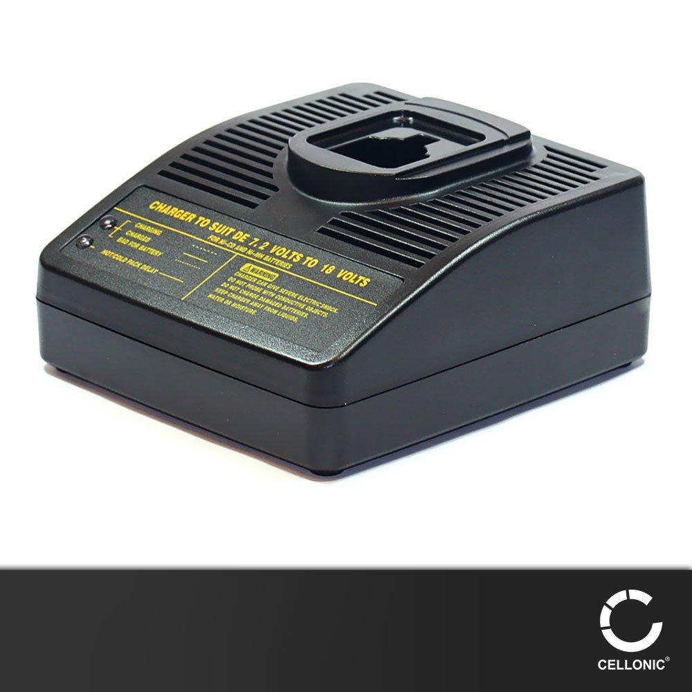 subtel® Cargador compatible con Black & Decker A9276 / PS140 (7.2V / 9.6V / 12V / 14.4V / 18V) Cable de carga negro: Amazon.es: Electrónica