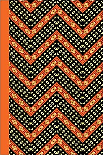 Amazon Journal African Pattern Orange 40x40 LINED JOURNAL Classy African Pattern