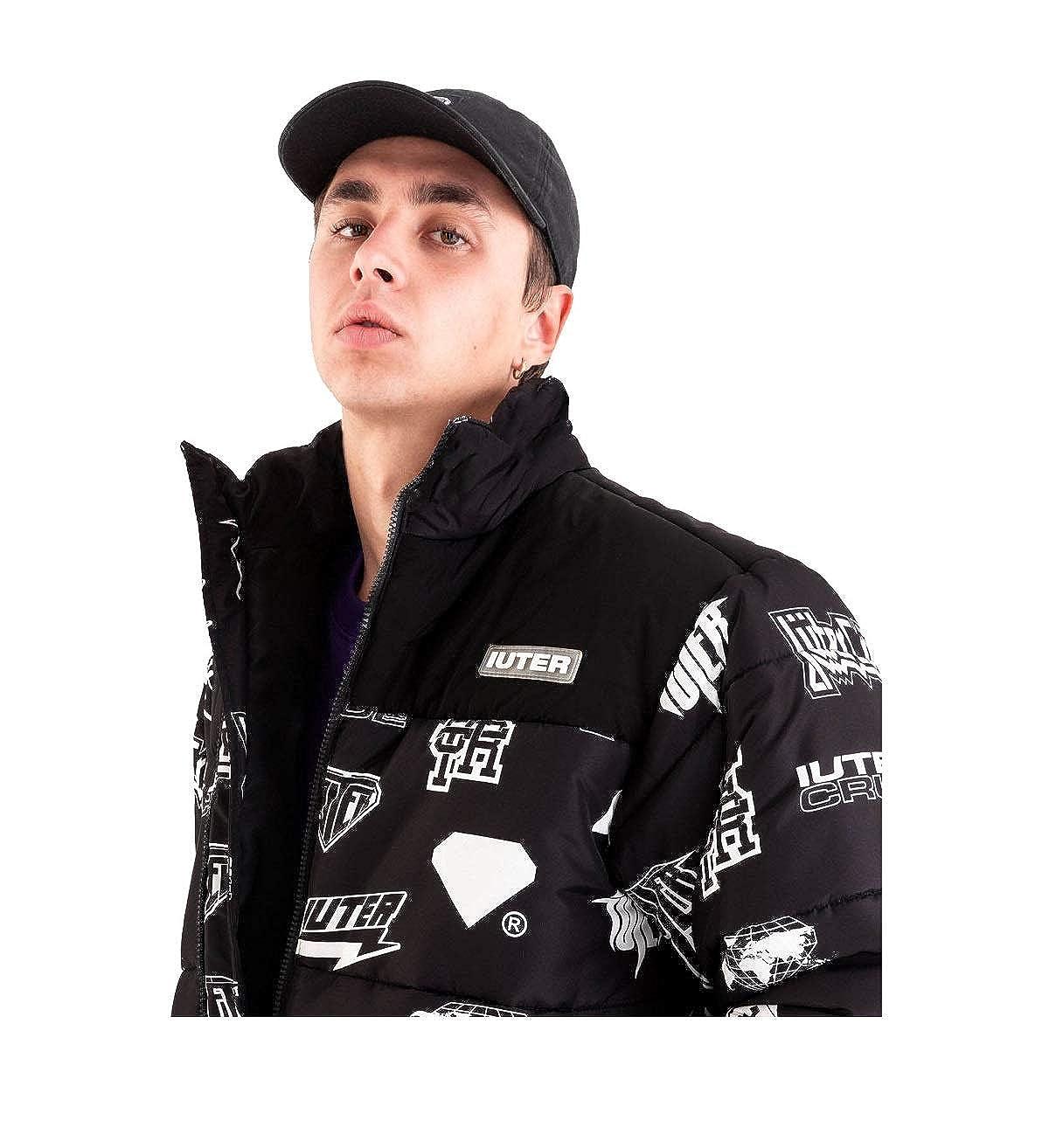 Iuter Giubbino Uomo Horns Allover Jacket Black AI19