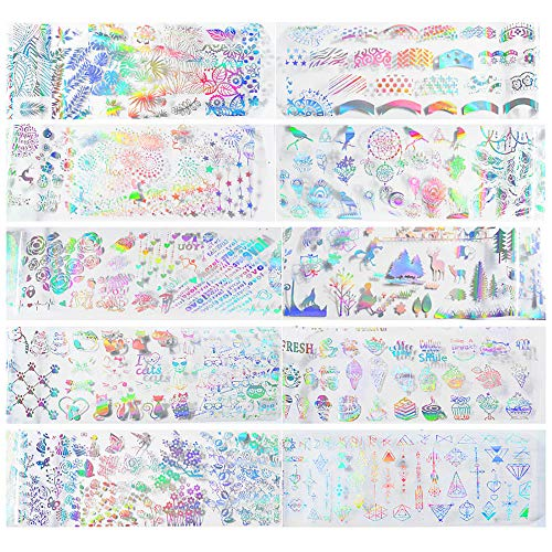 Gangglis Sticker Girl Beauty Nail Tools Nail Women Art Designs Nial (B) ()
