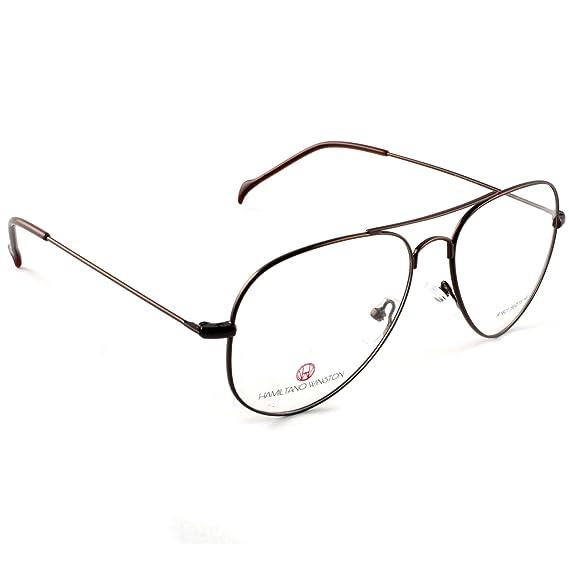 f0dfb210c0 Hamiltano Winston Aviator Unisex Eyeglasses Full Rim Spectacle Frame   Amazon.in  Clothing   Accessories