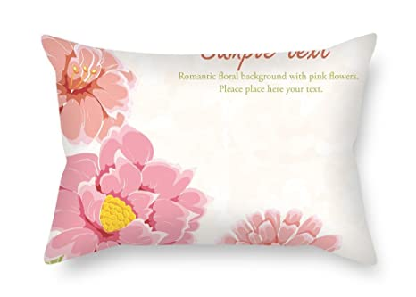 Slimmingpiggy Fundas de cojín de flores de 50 x 75 cm, mejor ...