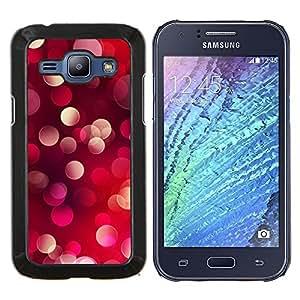 TECHCASE---Cubierta de la caja de protección para la piel dura ** Samsung Galaxy J1 J100 ** --Bling Dots Red Light Purple Pink