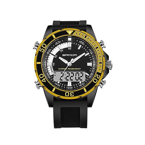 Gao Reloj deportivo digital de los hombres, reloj de ocio al aire libre impermeable electrónico