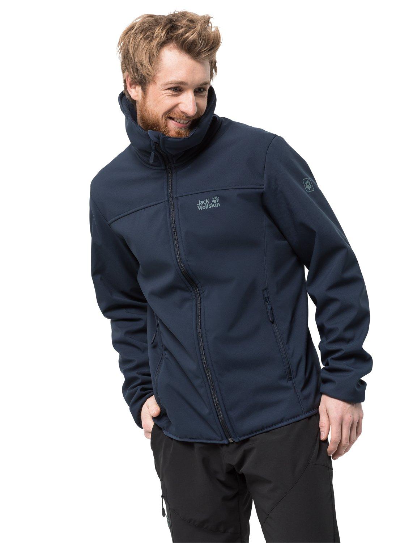 Jack Wolfskin Mens Rockwall Windproof Softshell Jacket