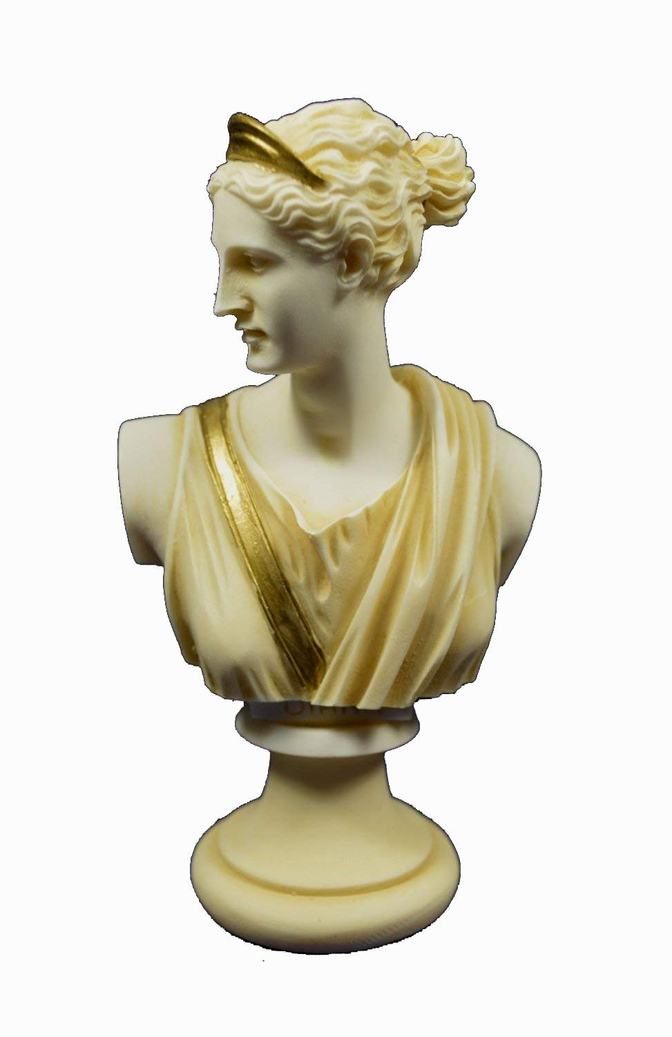 Artemis sculpture bust Diana Ancient Greek Goddess of hunt aged patina statue Estia Creations