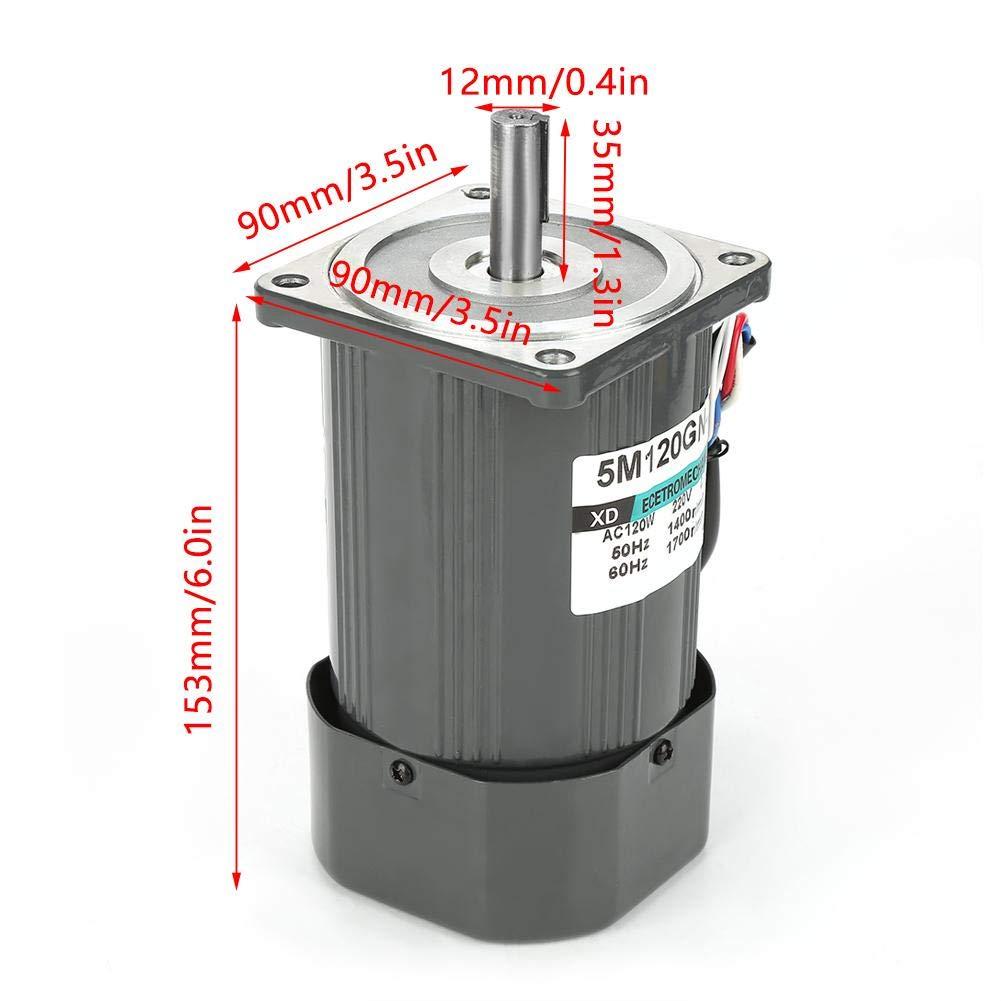 Motorreductor de CA 50K motor de reducci/ón de velocidad de gusano autoblocante CW//CCW ajustable con regulador