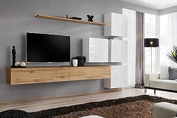 Wohnwand Mit Led Beleuchtung Hochglanz Tv Board Anbauwand