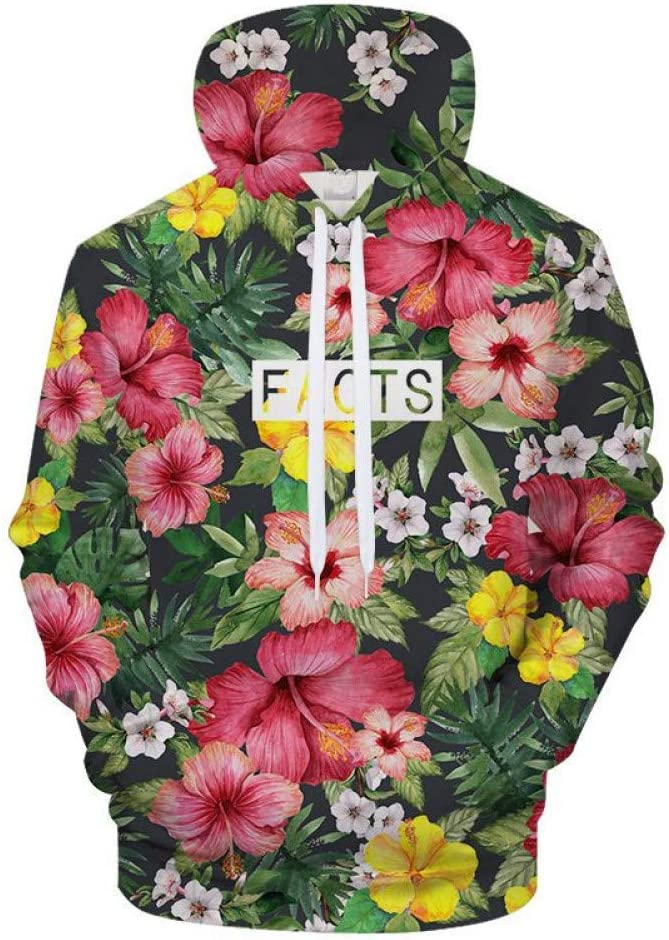BAI Aassdd 3D Flower Sweatshirt Hoodie Herren Damen Sweatshirts Print Hoodie Sweatshirt Streatwear Sweatshirts Hoodie Sweatshirt Petal,S S