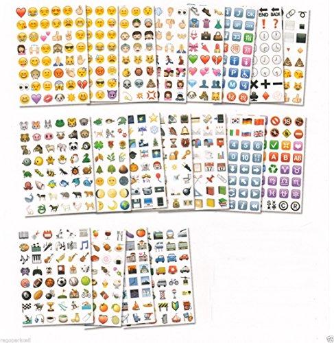 Original Emoji Stickers Pack 912 Die Cut Peel and Stick Vinyl ()