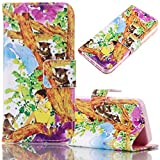 Samsung Galaxy S7 Edge Case, Bonice Magnetic Snap Flip Standing Wallet Case Ultra Slim Antiscratch Shockproof Protective Cover-Pattern 10