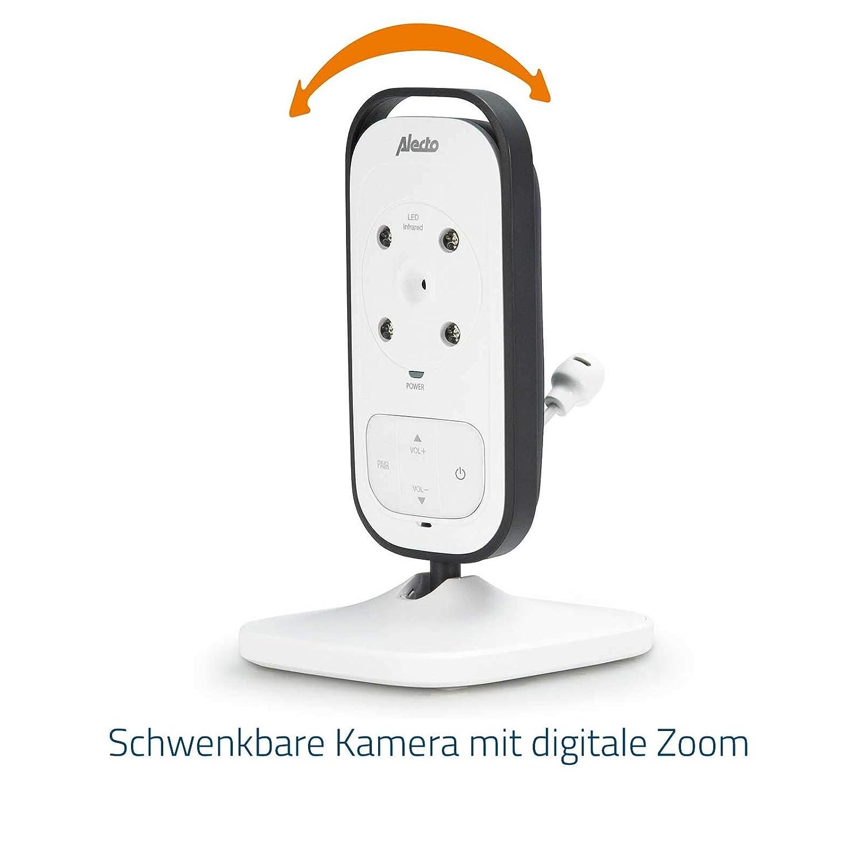 100/% st/örungsfrei Mehrkameradisplay/… Nachtsicht Alecto DVM-200 Funk Babyphone hohe Reichweite von bis zu 300 Meter 11 cm mit steuerbarer Kamera