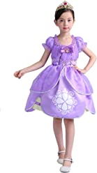 78b0f0bc38c9f UR Fashion ディズニードレス プリンセスなりきり 女の子 キッズ 子供ドレス コスプレ お姫様 ワンピース コスチューム ソフィアドレス