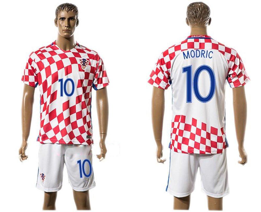 timeless design 85472 3b037 2016 2017 Croatia 10 Luka Modric Home Football Jersey In Red ...