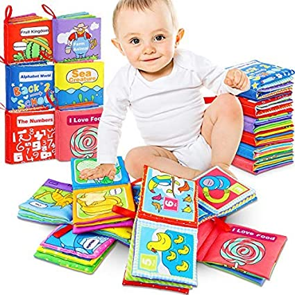 Renfox Baby Cloth Books For Babies Toddlers Nontoxic Fabric Soft