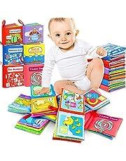 Soft-Bilderbuch 6pcs Baby Spielzeug Entdeckungsbuch Baby Buch zur Stärkung der Eltern-Kind-Beziehung Ab 3 Monaten