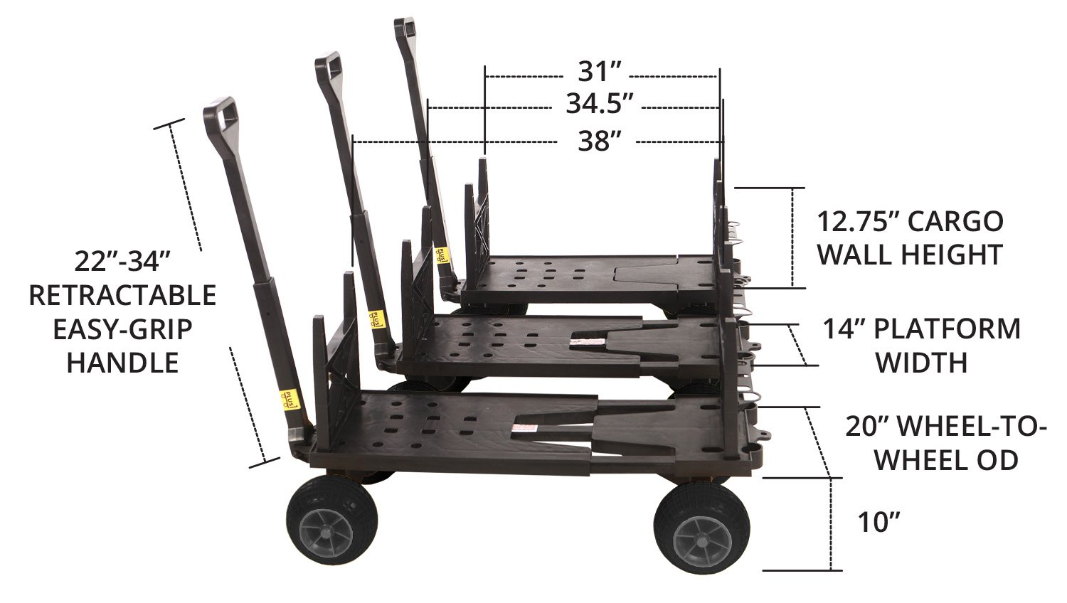 Mighty Max Plus One Multipurpose Garden Fishing Sports Equipment Cart by Mighty Max Cart (Image #2)