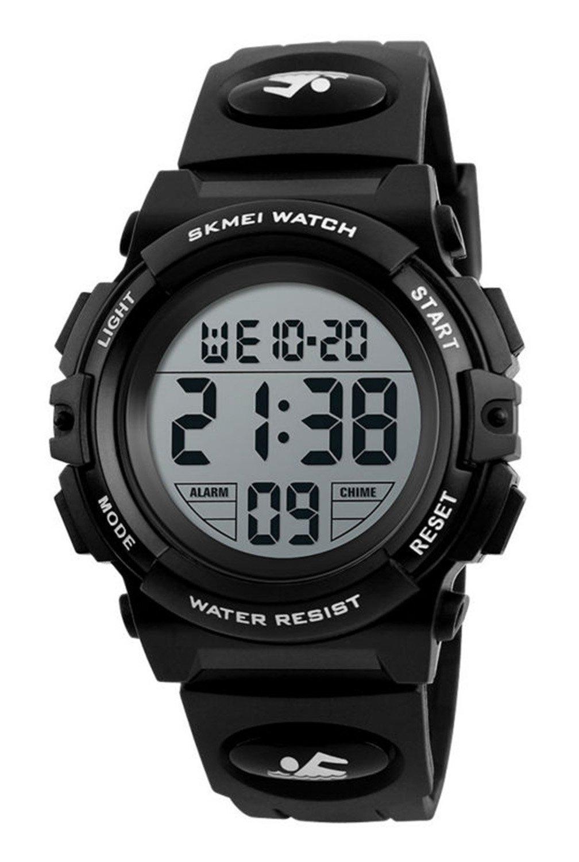 Kid Watch 50M Waterproof Sport LED Alarm Stopwatch Digital Child Quartz Wristwatch for Boy Girl(Black) by Gosasa